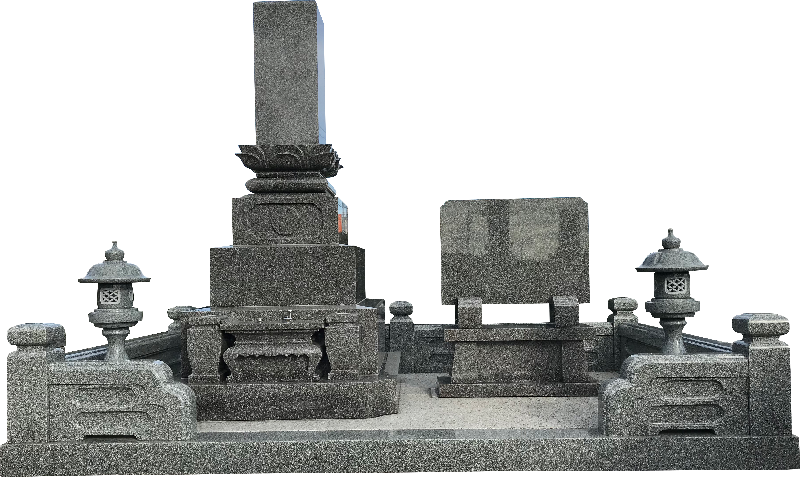 外柵墓前灯篭付モデル型